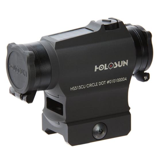 Holosun Circle Micro Red Dot Solar Sight,2 MOA Dot,65 MOA Circle,Black HS515CU