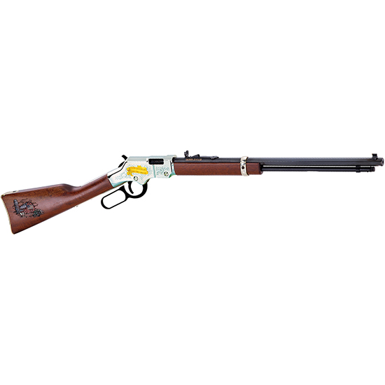Henry H004AF Golden Boy American Farmer Tribute Lever 22 Short|Long|Long Rifle 20 16 LR|21 Short American Walnut Stk Nickel Receiver|Blued Barrel in.