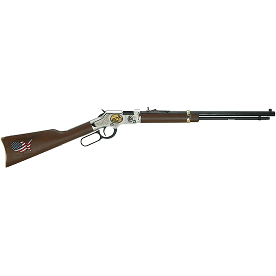 Henry H004CM2 Golden Boy Coal Miner Tribute II Lever 22 Short|Long|Long Rifle 20 16 LR|21 Short American Walnut Stk Nickel Receiver|Blued Barrel in.