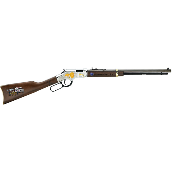 Henry H004EMS Golden Boy EMS Tribute Edition Lever 22 Short|Long|Long Rifle 20 16 LR|21 Short American Walnut Stk Nickel Receiver|Blued Barrel in.