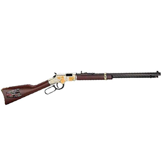 Henry H004FM Golden Boy Firefighter Tribute Lever 22 Short|Long|Long Rifle 20 16 LR|21 Short American Walnut Stk Nickel Receiver|Blued Barrel in.