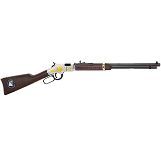 Henry H004LE Golden Boy Law Enforcement Tribute Lever 22 Short|Long|Long Rifle 20 16 LR|21 Short American Walnut Stk Nickel Receiver|Blued Barrel in.