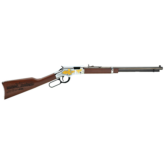 Henry H004RR Golden Boy American Railroad Tribute Lever 22 Short|Long|Long Rifle 20 16 LR|21 Short American Walnut Stk Nickel Receiver|Blued Barrel in.