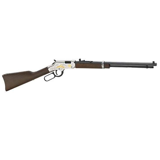 Henry H004SAT Golden Boy 2nd Amendment Tribute Lever 22 Short|Long|Long Rifle 20 16 LR|21 Short American Walnut Stk Silver in.