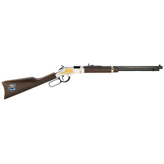 Henry H004TT Golden Boy Trucker's Tribute Lever 22 Short|Long|Long Rifle 20 16 LR|21 Short American Walnut Stk Nickel Receiver|Blued Barrel in.