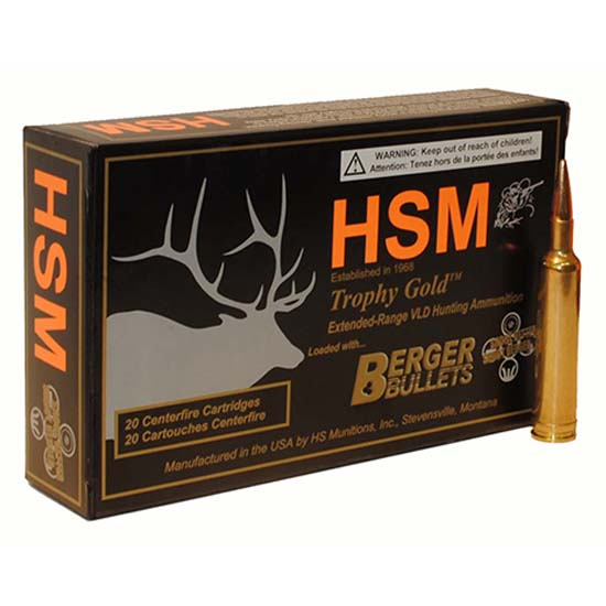 HSM BER300RUM185 Trophy Gold 300 RUM BTHP 185 GR 20Rds