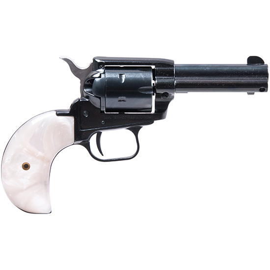 Heritage Mfg RR22MB3BHPRL Rough Rider Small Bore Single 22 Long Rifle 3.8 6 Mother of Pearl Bird Head Blued in.
