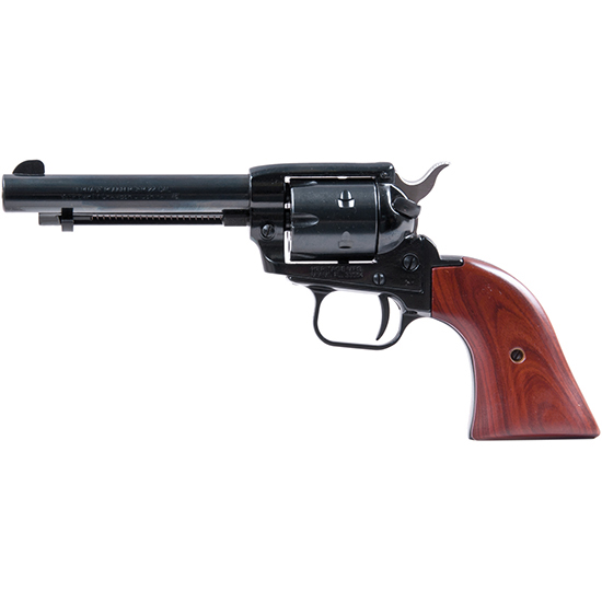 Heritage Mfg RR22MB4 Rough Rider Small Bore Single 22 Long Rifle (LR) w|22 WMR Cylinder 4.75 6 Cocobolo Blued in.