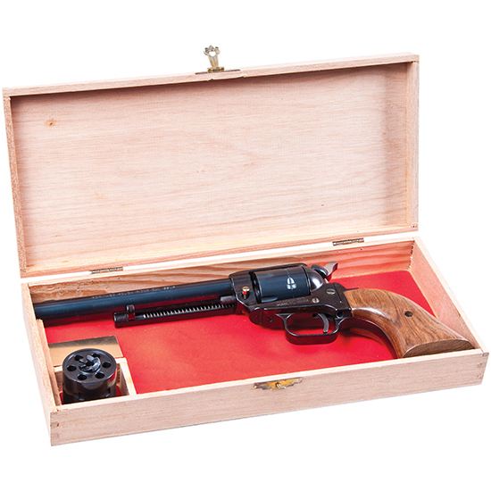 Heritage Mfg R22MB6BX Rough Rider Small Bore Single 22 Long Rifle 6.5 6 Cocobolo Blued in.