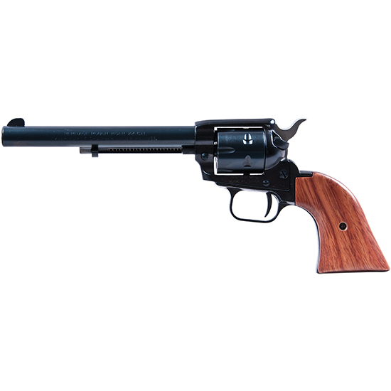 Heritage Mfg R22MB6HOL Rough Rider Small Bore Single 22 Long Rifle (LR) w||22 WMR Cylinder 6.5 6 Cocobolo Blued w|Holster in.