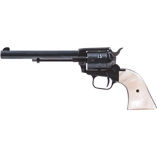 Heritage Mfg R22MB6PRL Rough Rider Small Bore Single 22 Long Rifle 6.5 6 Mother of Pearl Blued in.