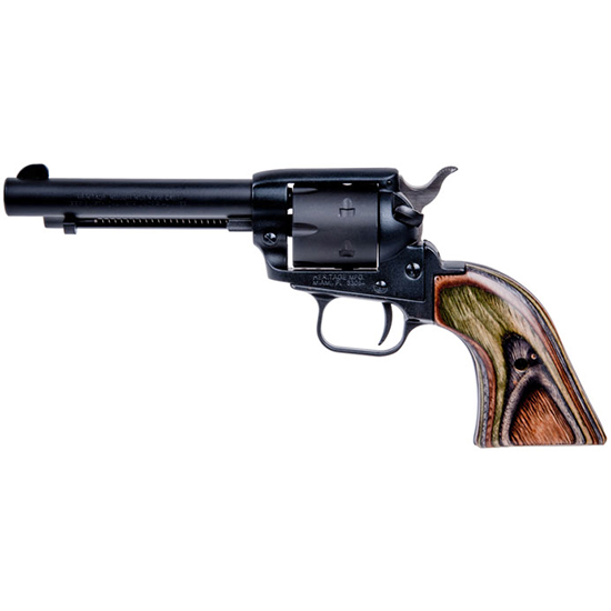 Heritage Mfg RR22MBS4 Rough Rider Small Bore Single 22 Long Rifle 4.75 6 Camo Laminate Black Satin in.