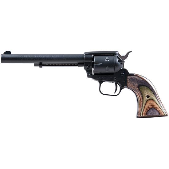 Heritage Mfg RR22MBS6 Rough Rider Small Bore Single 22 Long Rifle 6.5 6 Camo Laminate Black Satin in.
