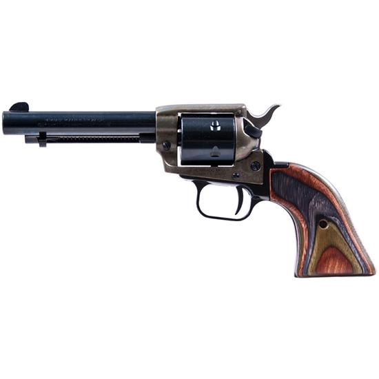Heritage Mfg RR22MCH4 Rough Rider Small Bore Single 22 Long Rifle 4.75 6 Camo Laminate Black in.