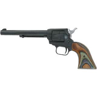 Heritage Mfg SRR22MBS6 Rough Rider Small Bore Single 22 Long Rifle 6.5 6 Camo Laminate Black Satin in.