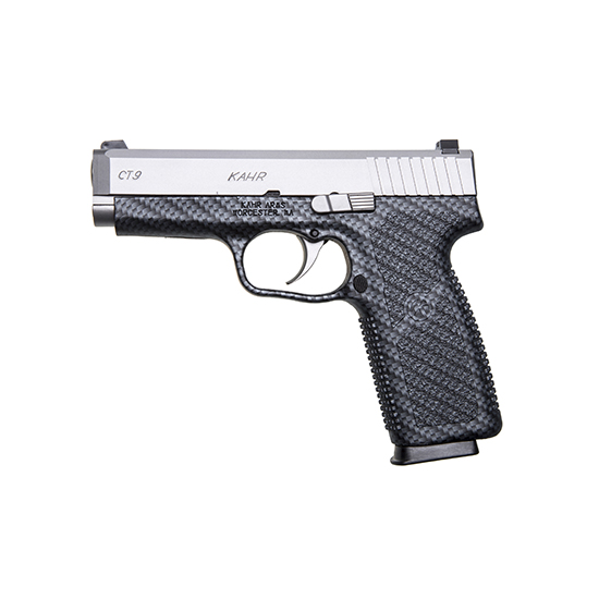 Kahr Arms CT9093BCF CT9 Double 9mm 3.6 7+1 Black Polymer Grip Stainless Steel in.