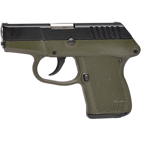 Kel-Tec P3ATBGRN P-3AT 380 ACP Double 380 Automatic Colt Pistol (ACP) 2.7 6+1 Green Polymer Grip Blued in.
