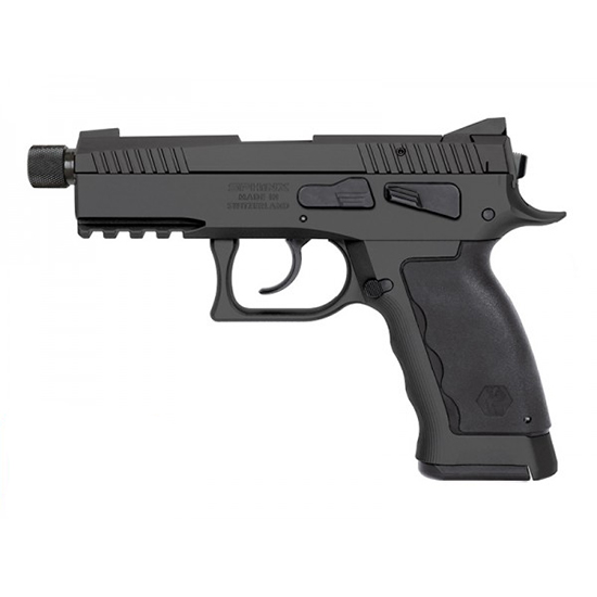 Kriss USA WSDCME086 Sphinx SDP Compact Single|Double 9mm 3.7  TB 7+1 Blk Polymer Grip in.