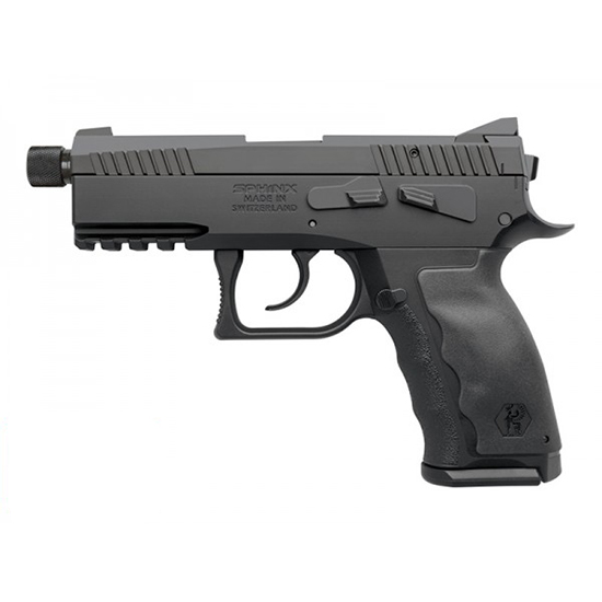 Sphinx WWSXXE018 Sphinx SDP Compact 9mm Luger Single|Double 3.7 TB 15+1 Black Interchangeable Backstrap Grip Black PVD Slide in.