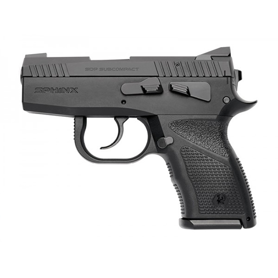 Kriss USA SD90SCAL001 Sphinx SPD Subcompact Alpha Single|Double 9mm 3.1 13+1 Blk Polymer Grip in.