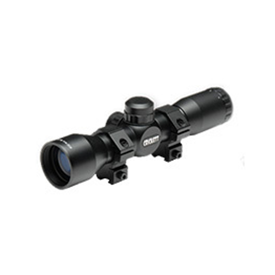 Crickett KSA054 Scope 4x 32mm Obj 32 ft @ 100 yds FOV 1 Tube Black Matte Mil-Dot in.