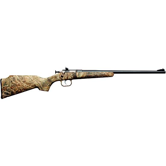 Crickett KSA2162 Single Shot Synthetic Bolt 22 Long Rifle (LR) 16.125 1 Synthetic Mossy Oak Duck Blind Stk Blued in.
