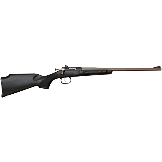 Crickett KSA2280 Single Shot Bolt 22 Winchester Magnum Rimfire (WMR) 16.12 1 Synthetic Black Stk Blued in.