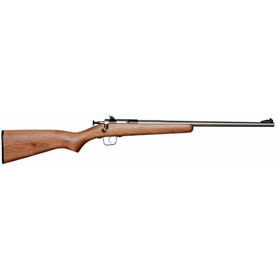 Crickett KSA2338 Single Shot Walnut Bolt 22 Winchester Magnum Rimfire (WMR) 16.125 1 American Walnut Stk Blued in.