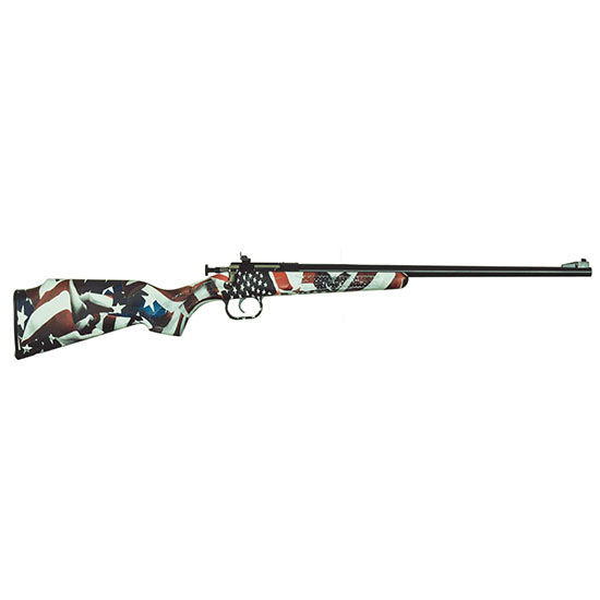 Crickett KSA3169 Single Shot Bolt 22 Long Rifle (LR) 16.125 1 Synthetic Custom One Nation Stk Stainless Steel in.
