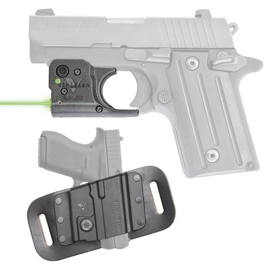Viridian Reactor 5 Green laser sight for Sig P238 P938 featuring ECR Includes Hybrid Belt Holster
