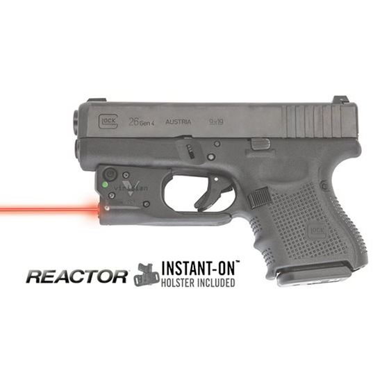Viridian Reactor 5 Red laser sight for Glock 26|27 featuring ECR Includes Hybrid Belt Holster