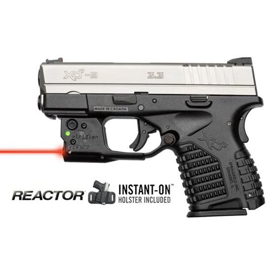 Viridian Reactor 5 Red laser sight for Springfield XDS featuring ECR Includes Hybrid Belt Holster