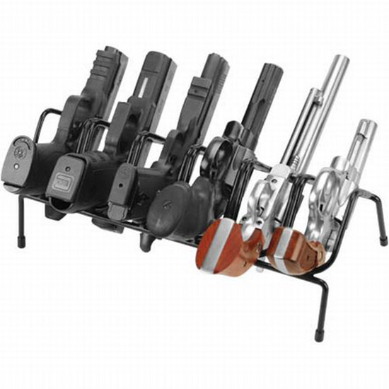 Past 222210 LockDown 6 Gun Handgun Rack Black