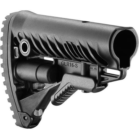 Mako GLR16 M16 AR15 Stock with Absorb Pad Black