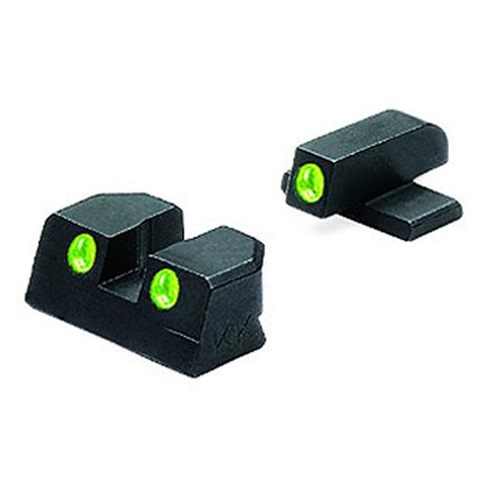Meprolight 10110 Tru-Dot Night Sight Set Sig Sauer #8|#8 Tritium Green Front|Rear Black