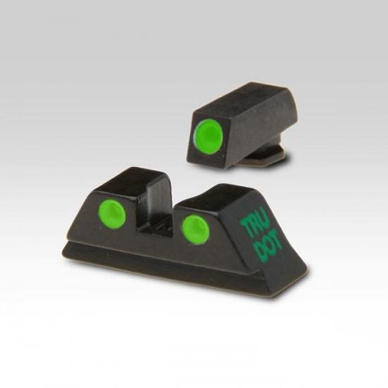 Meprolight 10222 Tru-Dot Night Sight Set Glock 20|21|29|30|36|41 Tritium Green Front|Rear Black