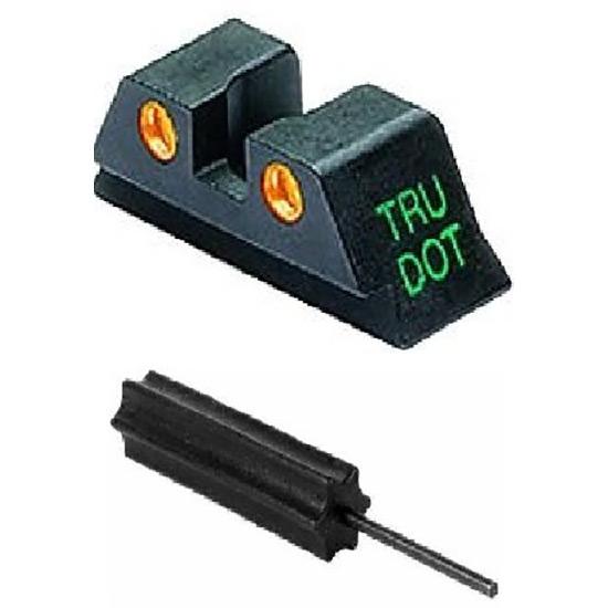 Meprolight 10224O Tru-Dot Night Sight Set Glock 17|19|22|23|31-35|37|38 Tritium Green Front|Orange Rear Black
