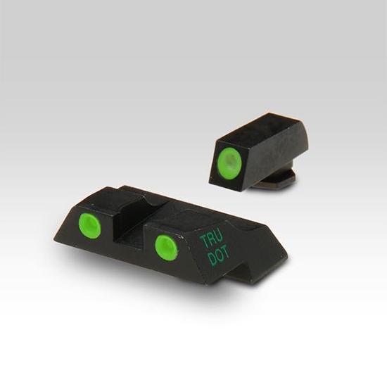 Meprolight 10226 Tru-Dot Night Sight Set Glock 26|27 Tritium Green Front|Rear Black