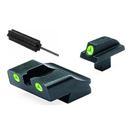 Meprolight 10776 Tru-Dot Night Sight Set Colt Government (New Models, .125 Tang) Tritium Green Front|Rear Black