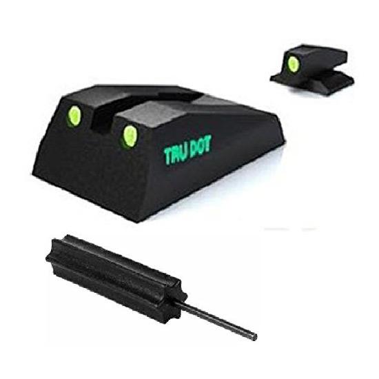 Meprolight 10993 Tru-Dot Night Sight Set Ruger SR9|SR40 Tritium Green Front|Rear Black
