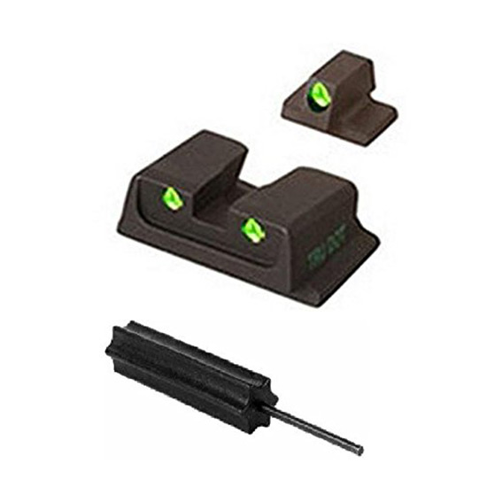 Meprolight 11766 Tru-Dot Night Sight Set S&W M&P 9|40 Full Size|Compact Tritium Green Front|Rear Black