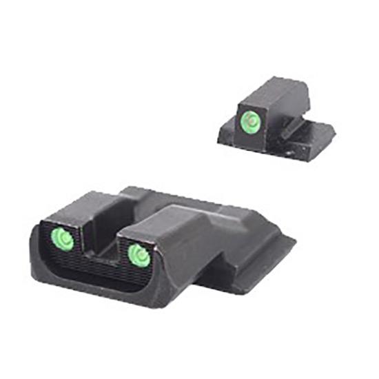 Meprolight 11770 Tru-Dot Night Sight Set S&W M&P Shield Tritium Green Front|Rear Black
