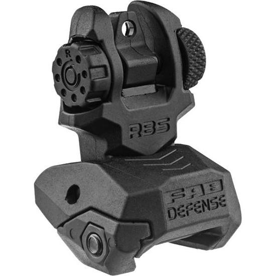 Mako RBS Folding Rear Sight AR-15|M4|M16 Picatinny Rail Black