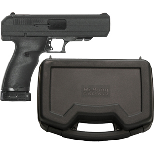 Hi-Point 34013 40 S&W Double 4.5 10+1 Black Polymer Grip Black with Hard Case in.