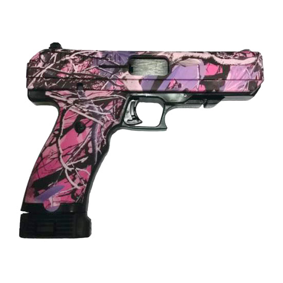Hi-Point 34510PI Single 45 Automatic Colt Pistol (ACP) 4.5 9+1 Muddy Girl Polymer Grip|Frame in.