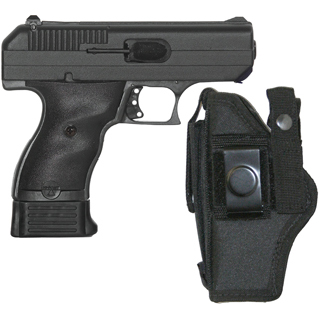 Hi-Point 9NYLOC 9mm w|Nylon Holster Double 3.5 8+1 Black Polymer Grip Black with Nylon Holster in.
