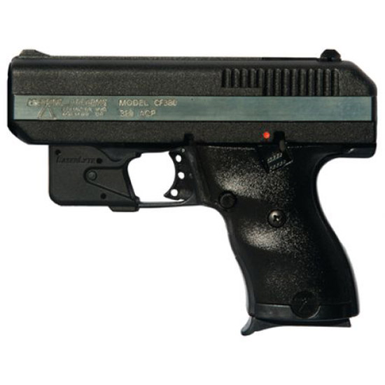 Hi-Point CF380LLTGM w|LaserLyte Double 380 Automatic Colt Pistol (ACP) 3.5 8+1 3-Dot Black Polymer Grip Black|Chrome in.