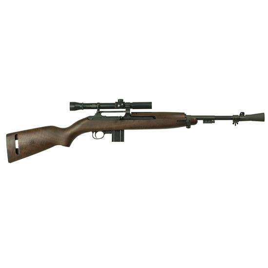 Inland Mfg ILM320 T30 Carbine with Scope Bolt 30 Carbine 18 10+1 Walnut Stk Black in.