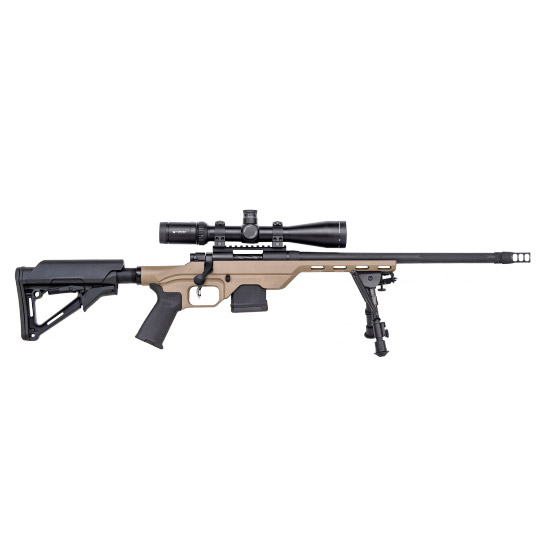 Mossberg MVP Light Chassis|Vortex HS-T Scoped Combo Blued|Tan 5.56mm 16.25-inch 11 Rds
