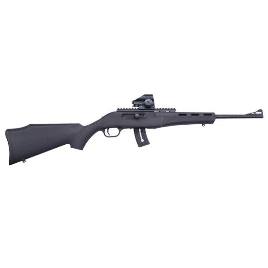 Mossberg 37316 Blaze Green Dot Combo Semi-Automatic 22 Long Rifle (LR) 16.5 25+1 Synthetic Black Stk Blued in.
